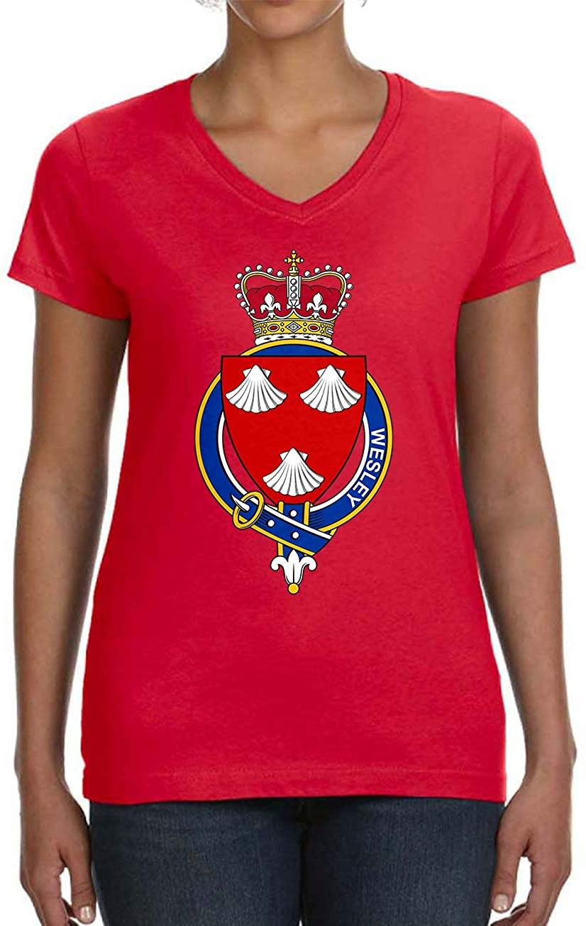 Tenacitee Women's English Garter Family Wesley V-Neck T-Shirt