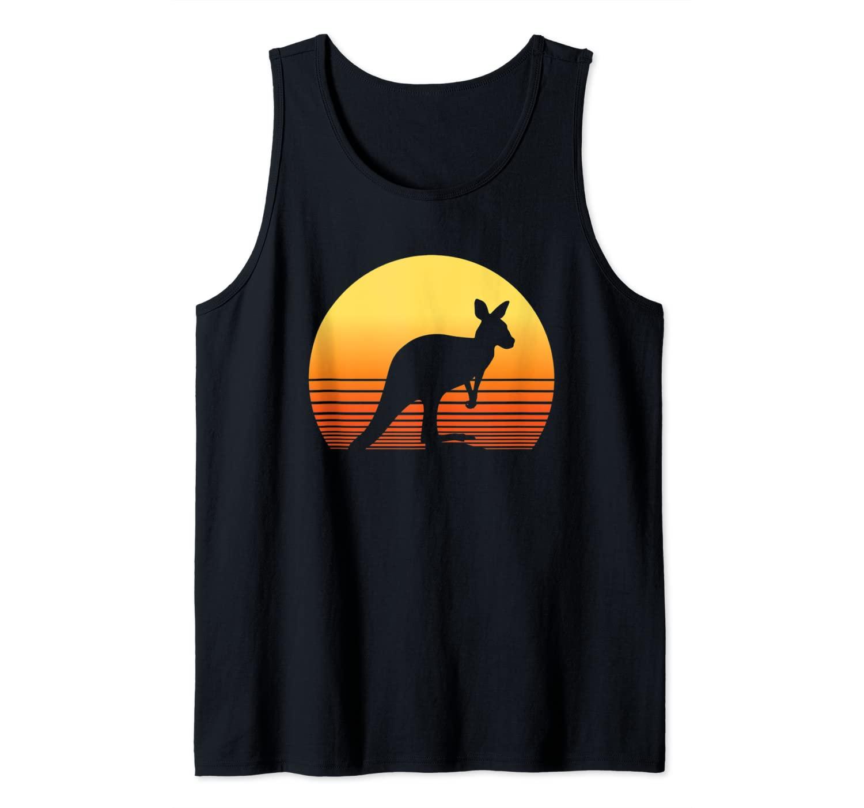 Kangaroo Retro Australia Sunset Gift Tank Top