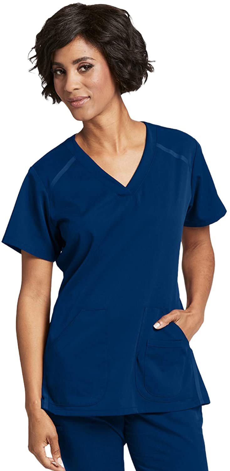 Grey's Anatomy Impact 7188 Women's Elevate Scrub Top Indigo XXS