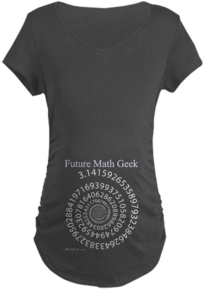 CafePress Spiral Pi Maternity Dark T-Shirt Maternity Tee