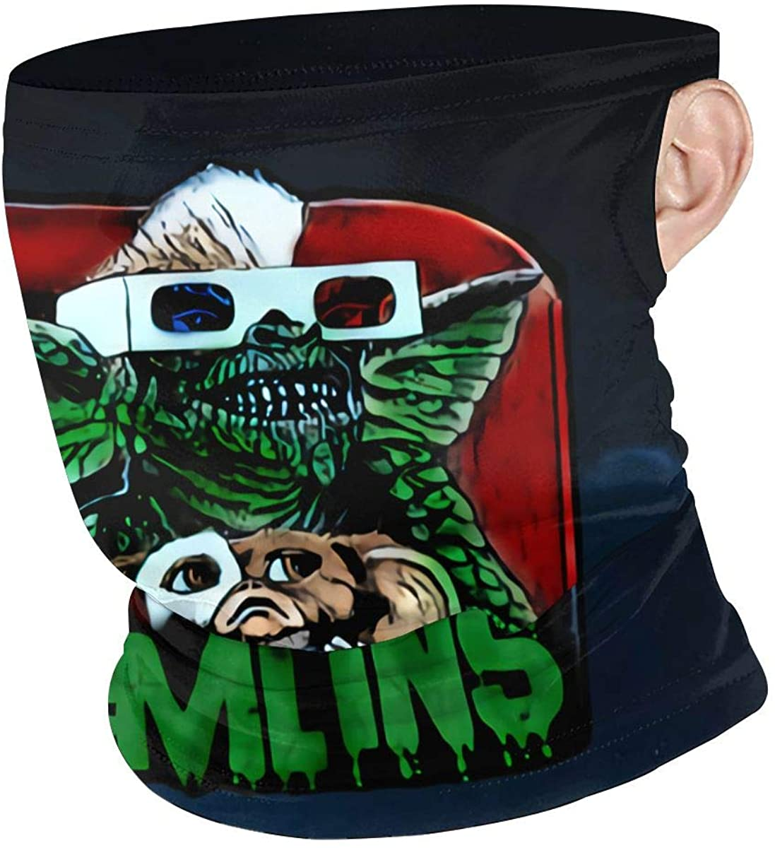 Gremlins Hanging Ear Windproof Neck Gaiter Face Dust Cover Scarf