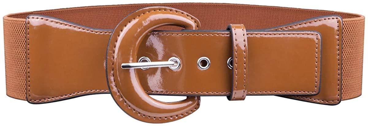 Samtree Vintage Wide Stretchy Cinch Belt for Women, Chunky Buckle Adjustable Elastic Waist Belt for Dresses