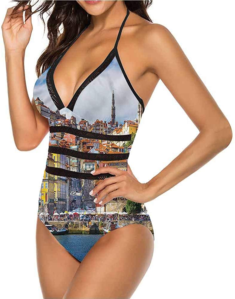 Womens Sexy Adjustable Bikini Havana City Houses So Pretty and Fits