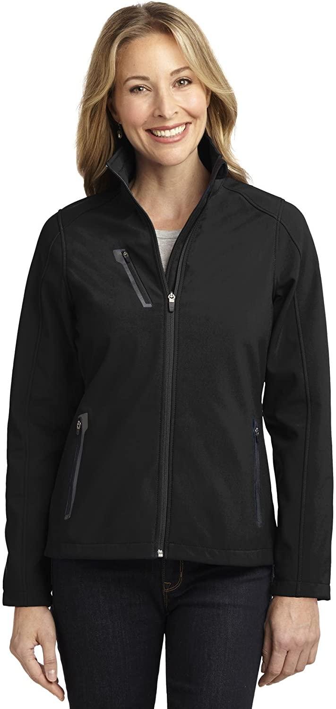 Ladies Welded Soft Shell Jacket. L324 Black Large