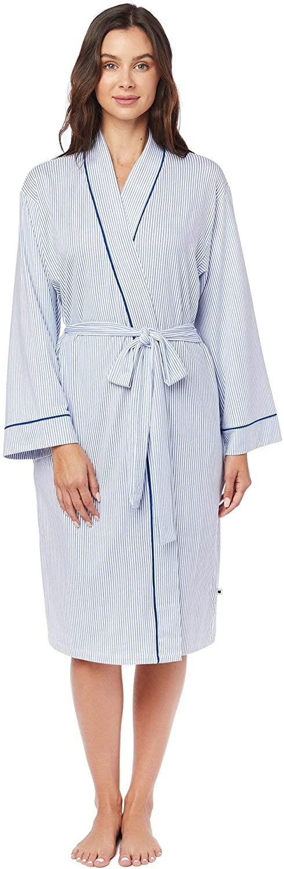 Simple Stripe Pima Knit Robe