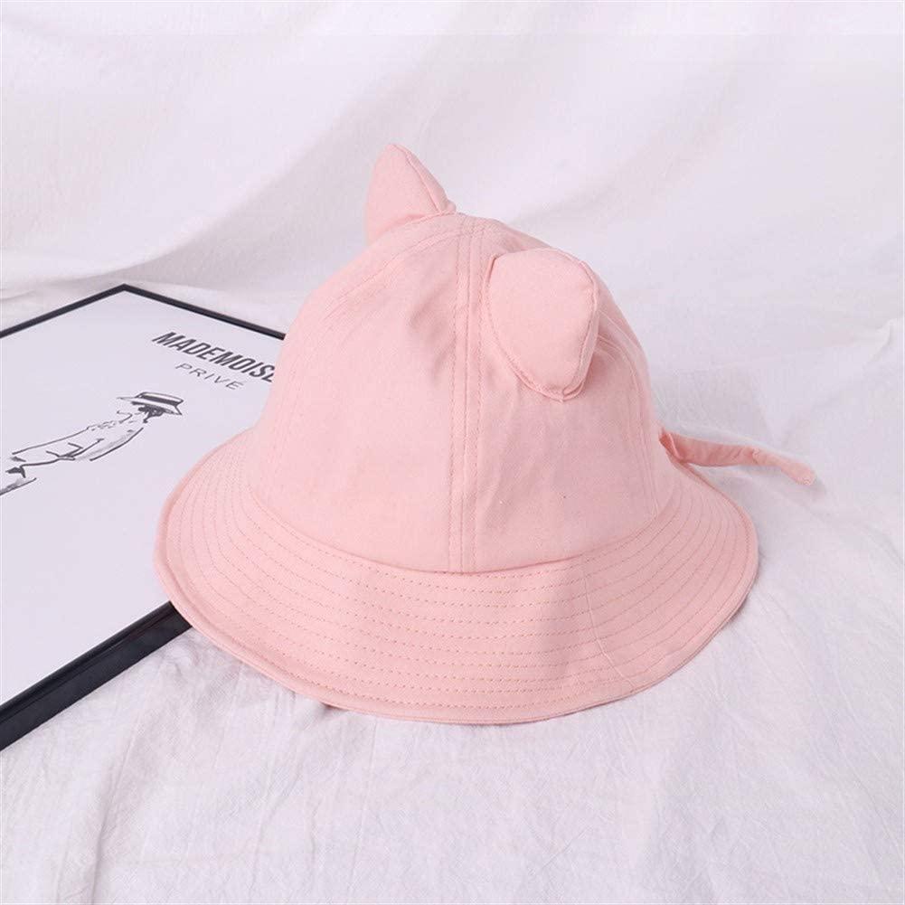 QinMei Zhou Orecchiette Cute Girl Soft hat Female Summer Korean Wild Japanese Literary Small Fresh Chic hat Basin Cap