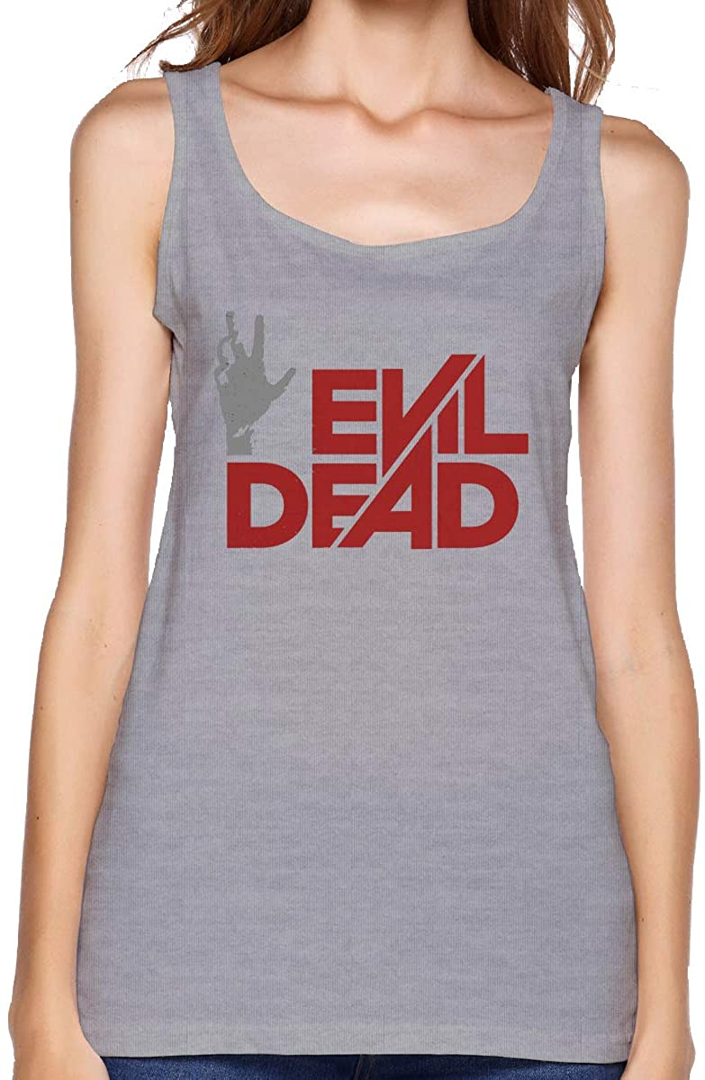 Qwtywqekeertyi Evil Dead Ladies Vest Summer Casual Sleeveless Shirt Loose Collar V-Neck Top