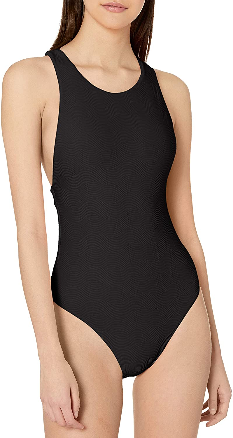 Seafolly Women's High Neck One Piece Swimsuit with Low Open Back
