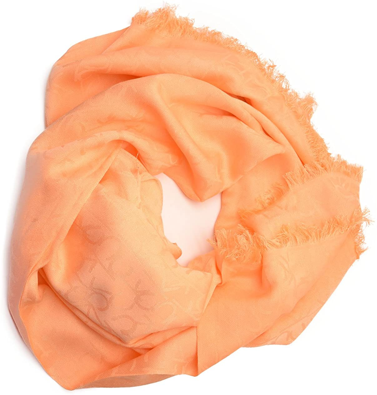 Calvin Klein Ck Womens Logo Pashmina Wrap Med Orange