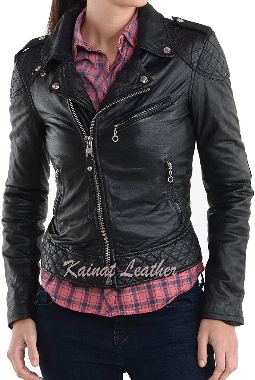 KAINAT Lambskin Leather Craft Women's Biker Jacket 120