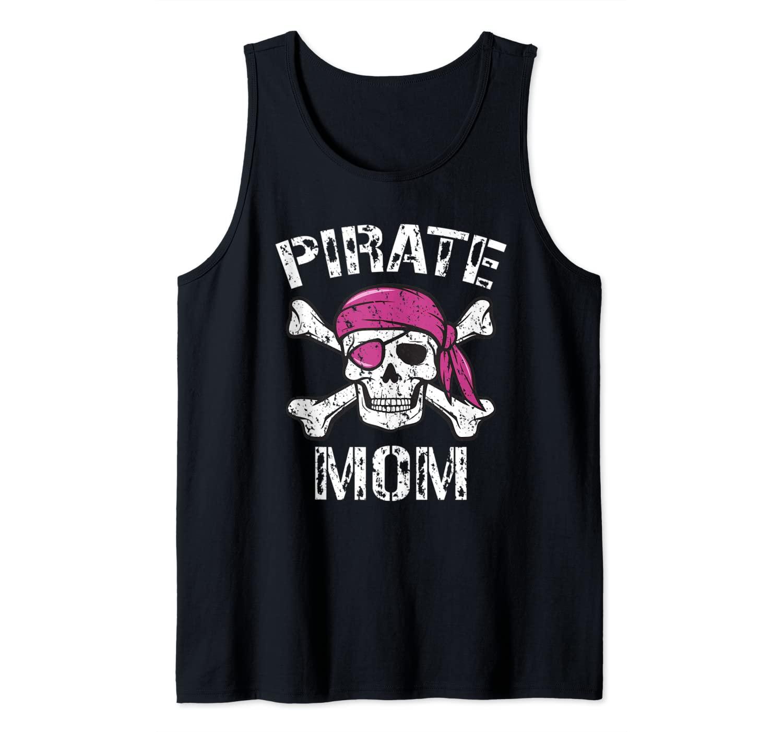 Pirate Mom - Matching Family Pirate Skull Crossbones Tank Top