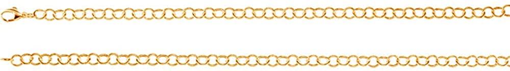 LoveBrightJewelry 18K Yellow Gold Vermeil Ring Link Chain Bracelet