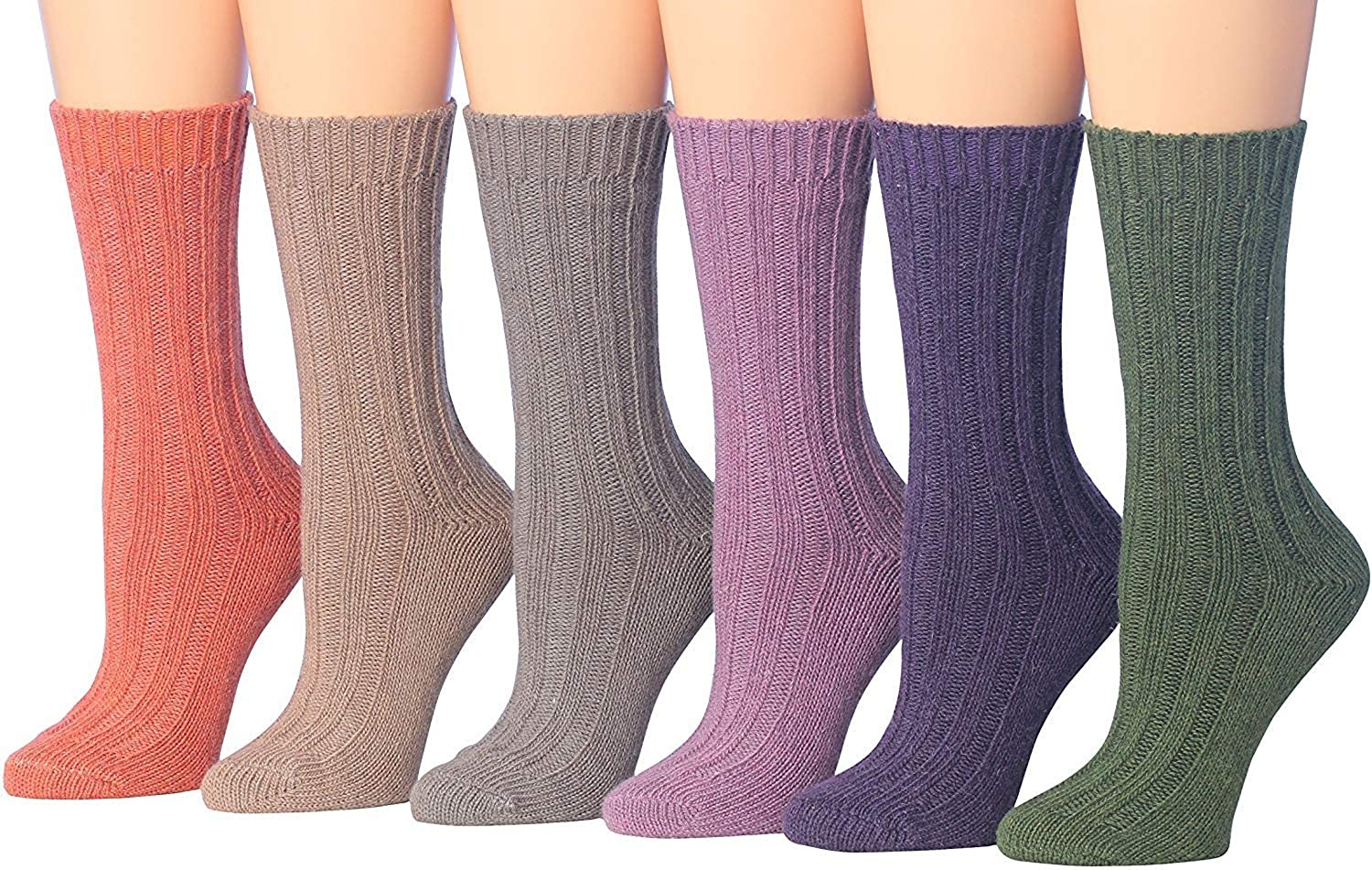 Tipi Toe Women's Fashion Wool Blend Super Soft Ribbed Winter Boot Socks