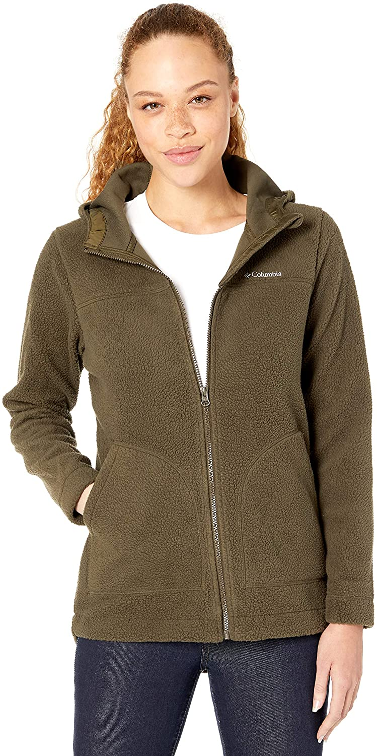 Columbia Women's Canyon Point Hooded Sherpa Full Zip Outerwear