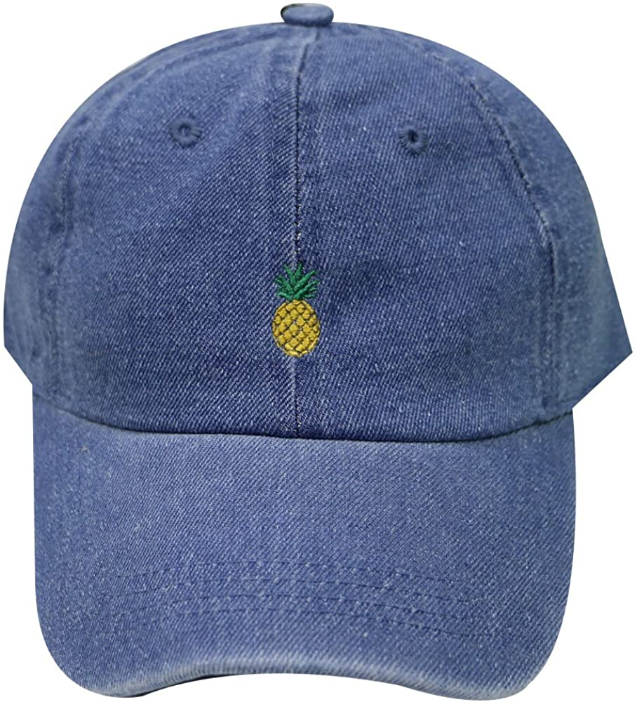 City Hunter C104 Cute Pineapple Summer Cotton Baseball Dad Caps - 27 Colors