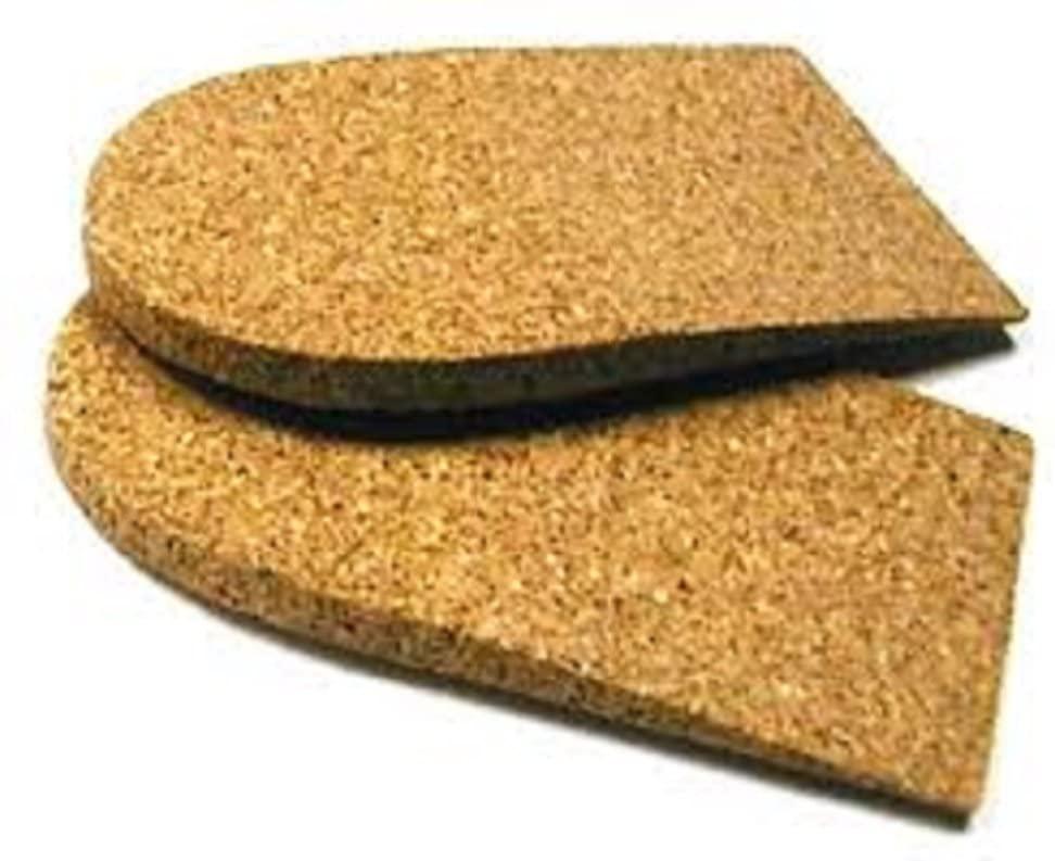 Cork Heel Lift, 1/4 inch (6 mm) Rubber Cork, 1 Pair, Small (2