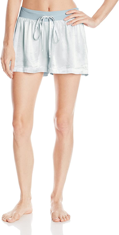 PJ Harlow Women's Mikel Satin Boxer Short, Morning Blue, Medium