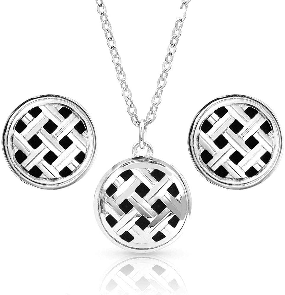 Montana Silversmiths Silver Legacy Button Jewelry Set
