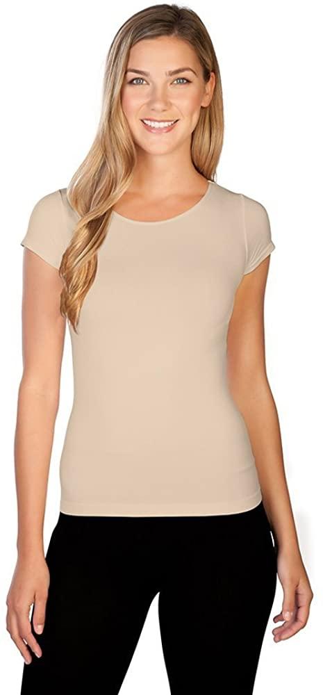 skinnytees - Womens Short Sleeve Crew neck Tee