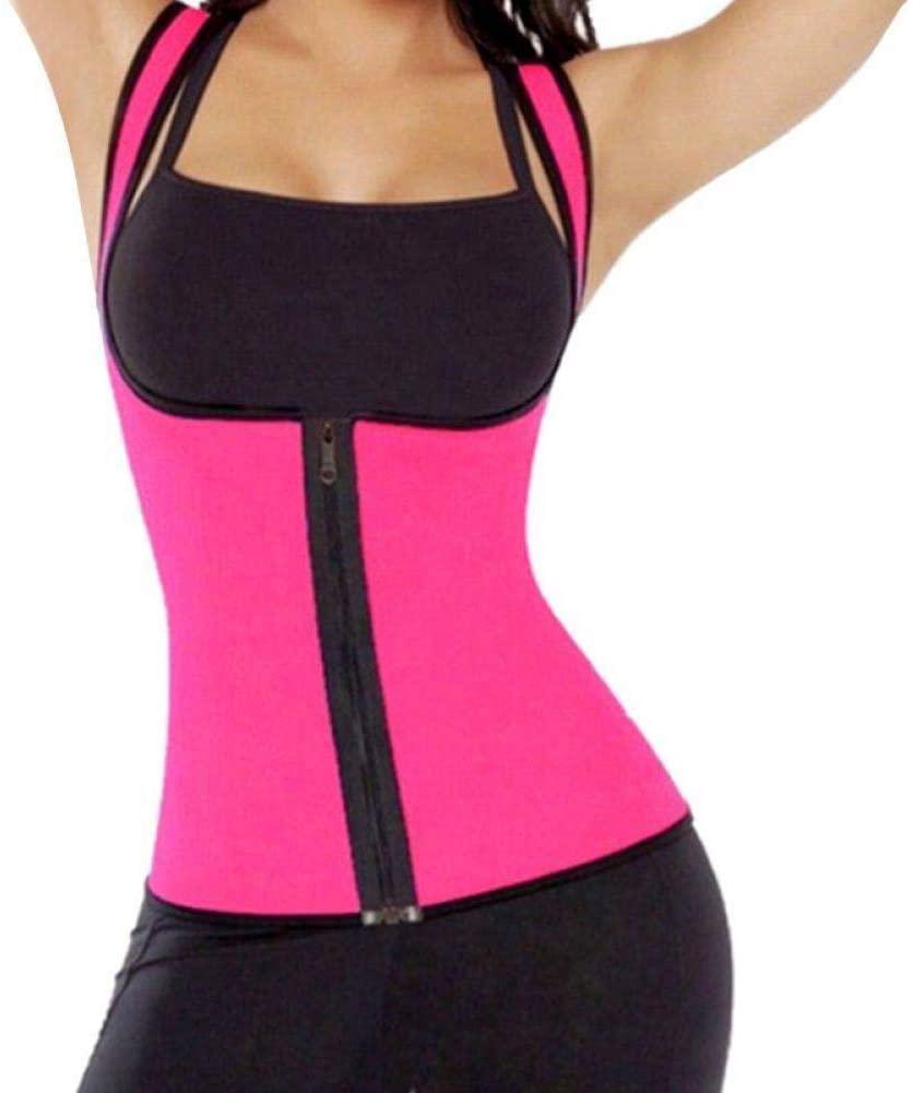 Deecen Hot Neoprene Body Shaper Slimming Waist Trainer Cincher Vest Women New 2019 Dropshipping Household (Rose Red,XL)