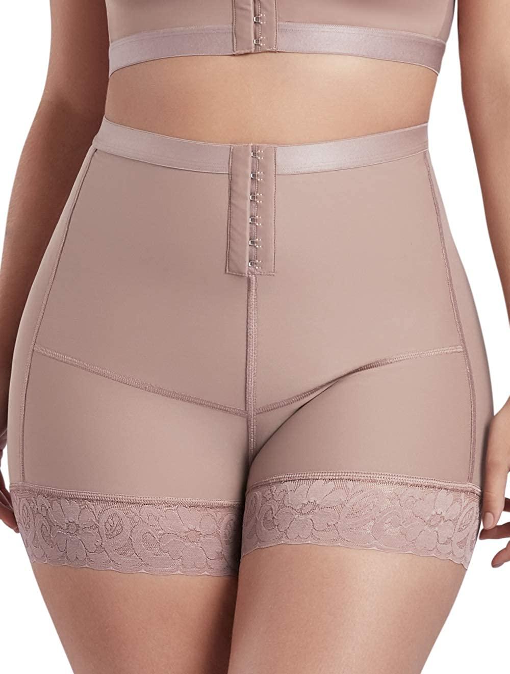 CURVEEZ Post Surgery Hourglass Butt Lifter Shaper Panties Tummy Control High Waisted Bodyshort