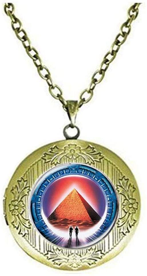 Stargate Locket Necklace Glass Photo Charm Jewelry Birthday Festival Gift Beautiful Gift
