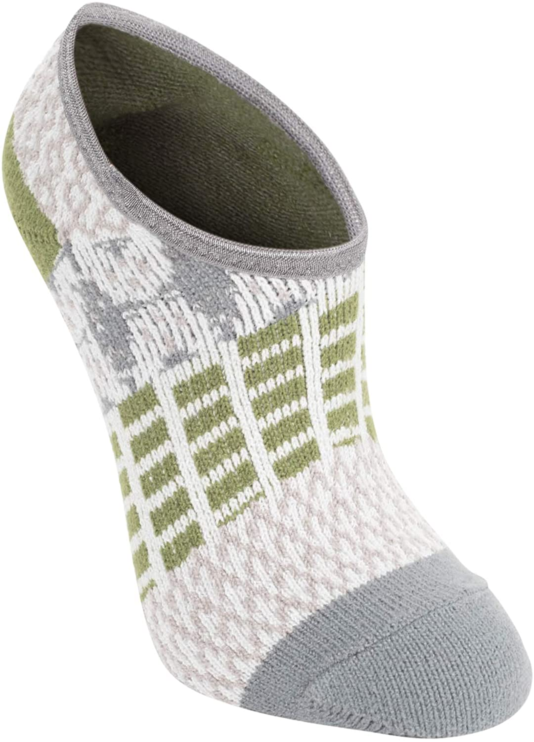 World's Softest Women's One Size Earthy Color Block Gallery Knit No-Show Footsie Socks