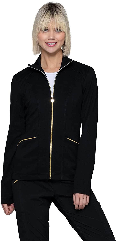 HeartSoul Zip Front Scrub Jacket