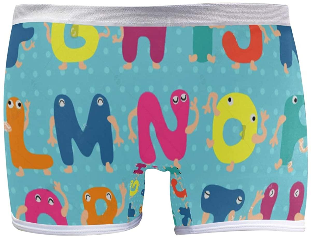 SLHFPX Hipster Animal Alphabet Polka Dot Boyshort Panties Womens Underwear Soft Boxer Briefs Boy Shorts
