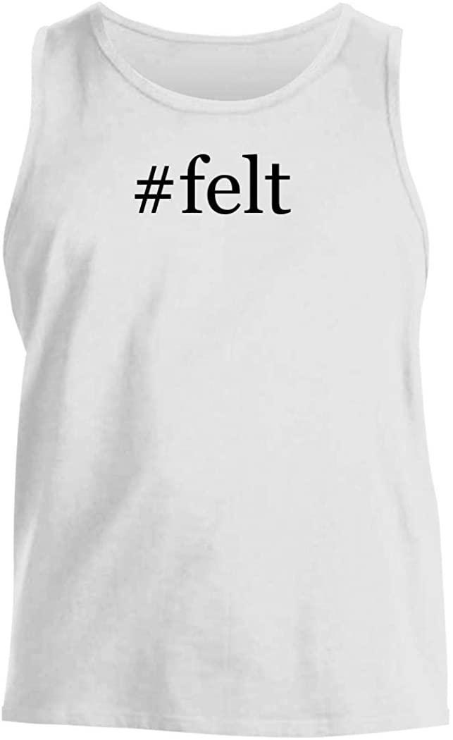 #felt - Men's Hashtag Comfortable Tank Top, White, XX-Large