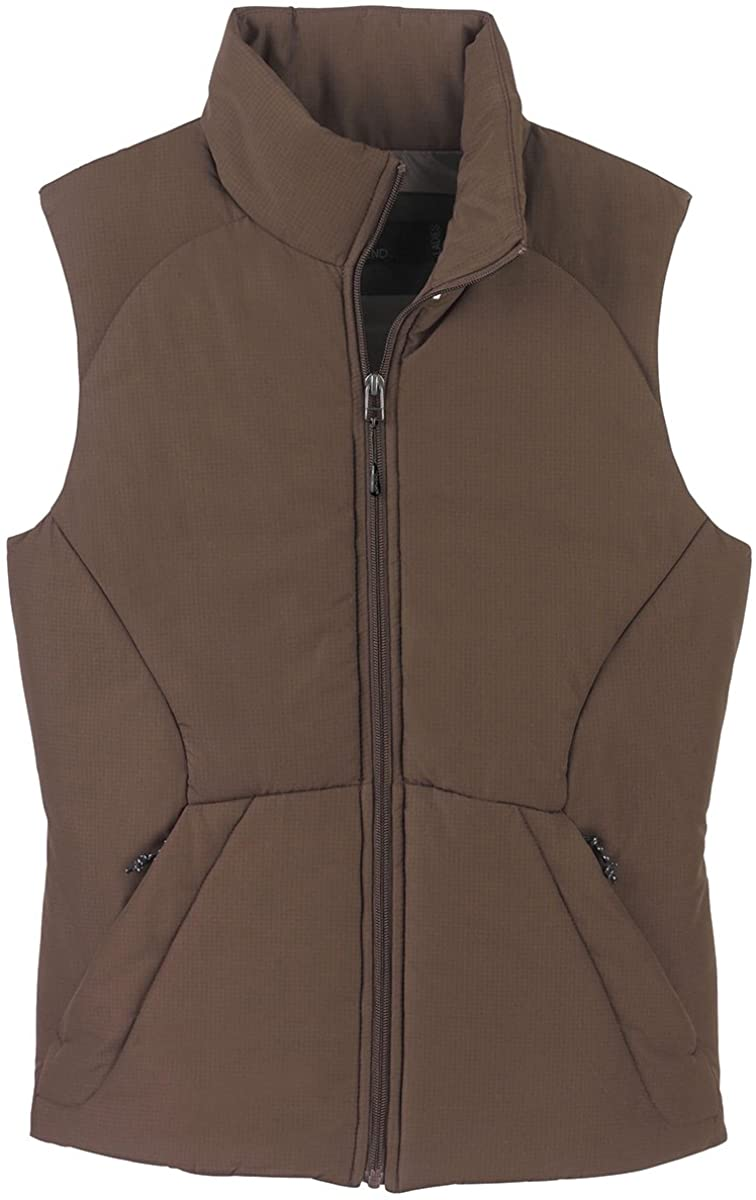 North End 78081 Ladies Polyester Ripstop Insulated Vest Chocolate Medium