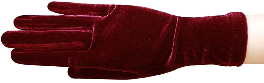 Jewel of the Night Velvet Wrist Length Gloves