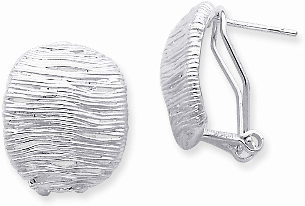 Sterling Silver Omega Back Earrings, Best Quality Free Gift Box