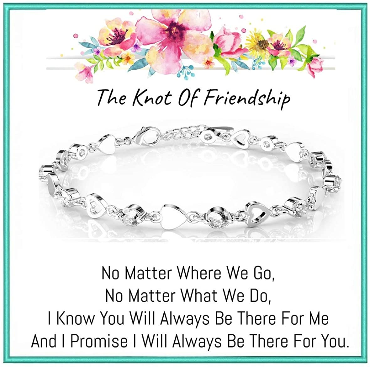 Best Friend Bracelets, Friendship Bracelet, Best Friend Bracelet with Gifts Bag for Best Friend Birthday Best Friend Christmas