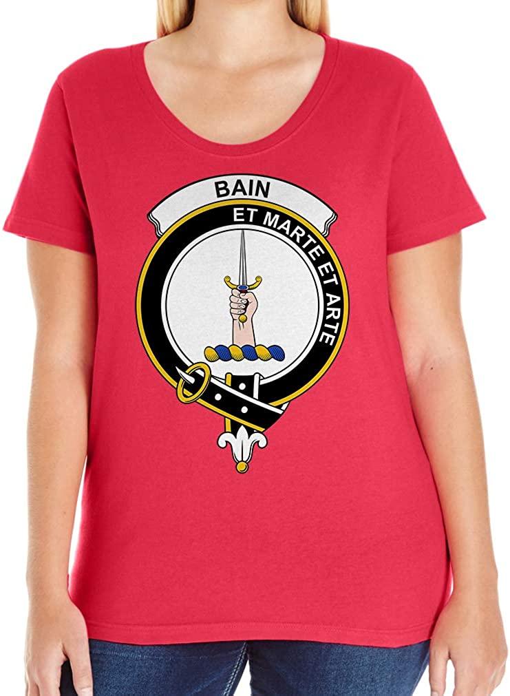 Tenacitee Women's Scottish Clan Crest Badge Bain T-Shirt