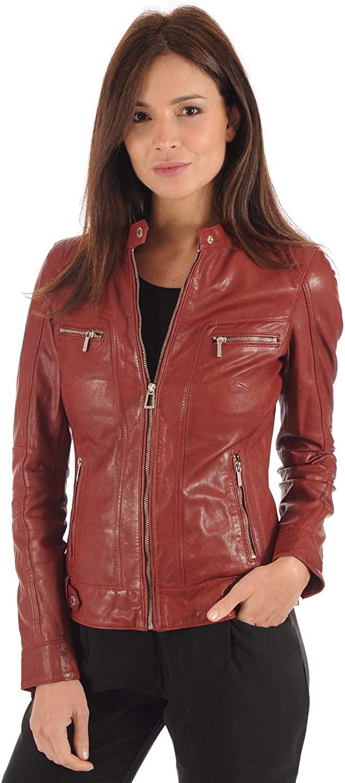 Women's Genuine Lambskin Leather Jacket 07