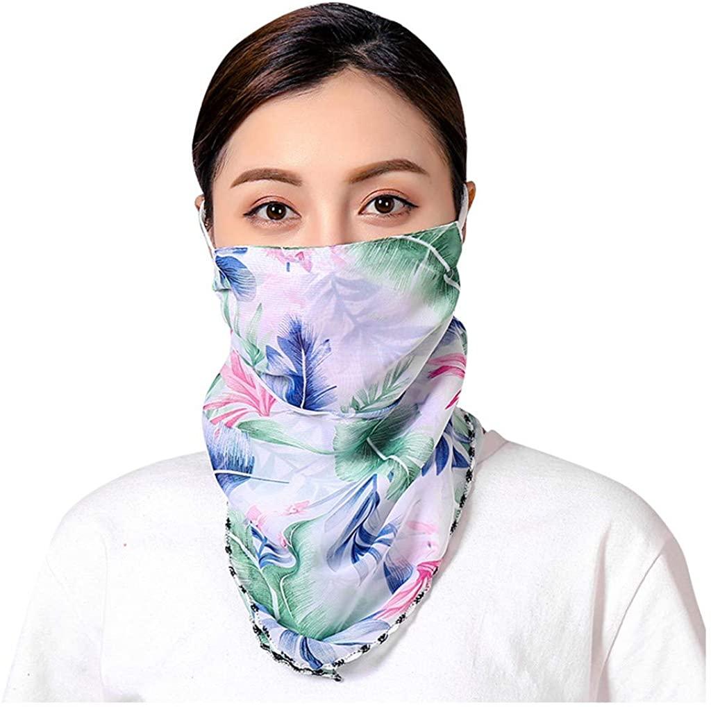 TOTAMALA Women's Sunscreen Face Cover Chiffon Scarf UV Protection Bandana Sun Dustproof Outdoor Cycling Neck Gaiter