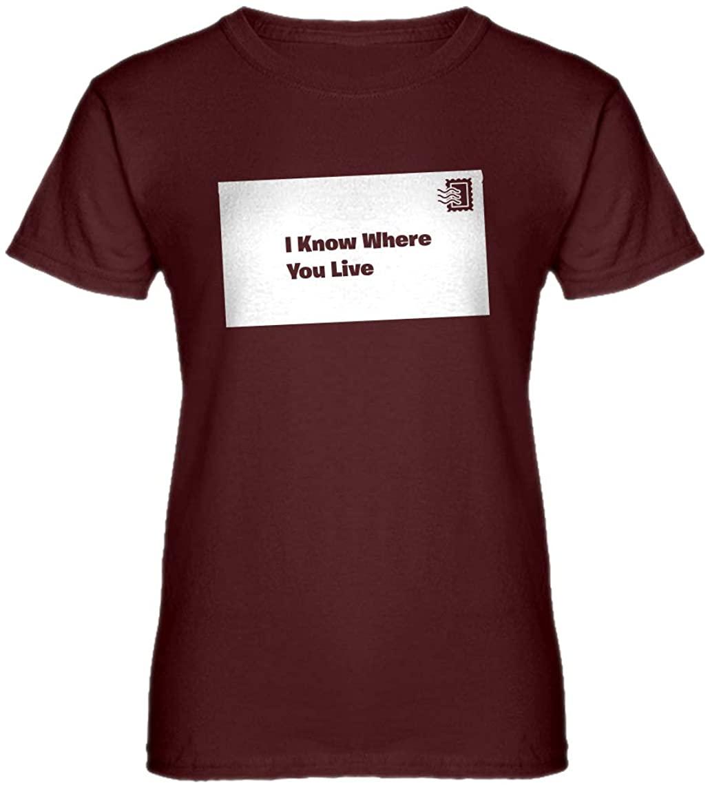 Indica Plateau I Know Where You Live Womens T-Shirt