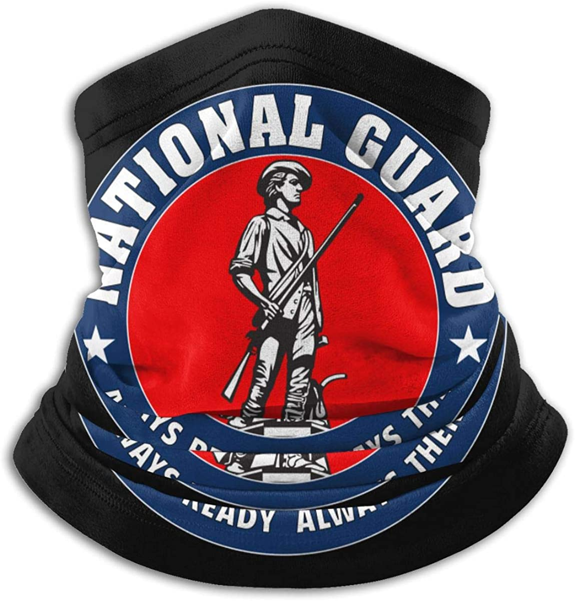 Army National Guard Trained Warmer Scarf Soft Elastic For Men Women Fleece Skiing Face Scarf