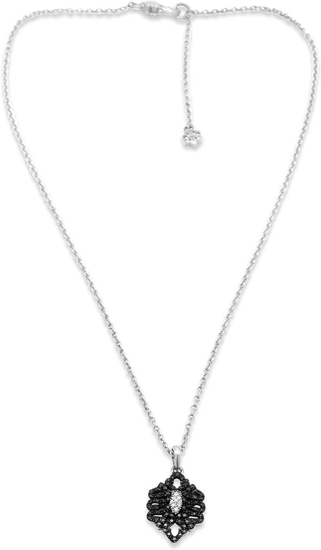 Ariva Sterling Silver & Black Diamond Necklace