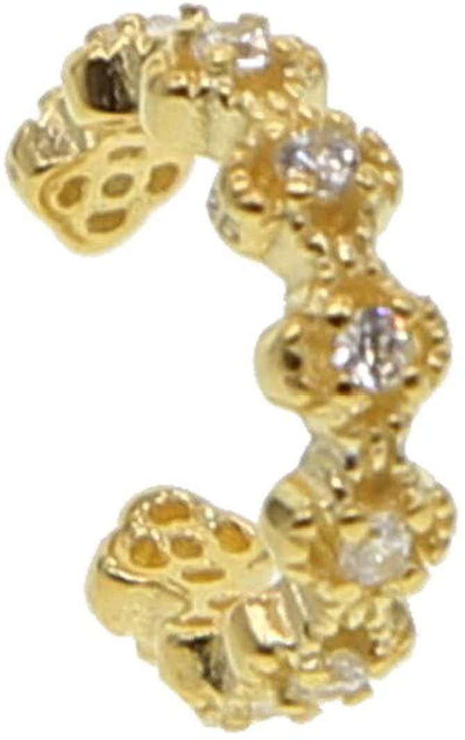 1pc Elegant Women Bling Zirconia Flower Ear Cuff Wrap Clip Cartilage Earrings
