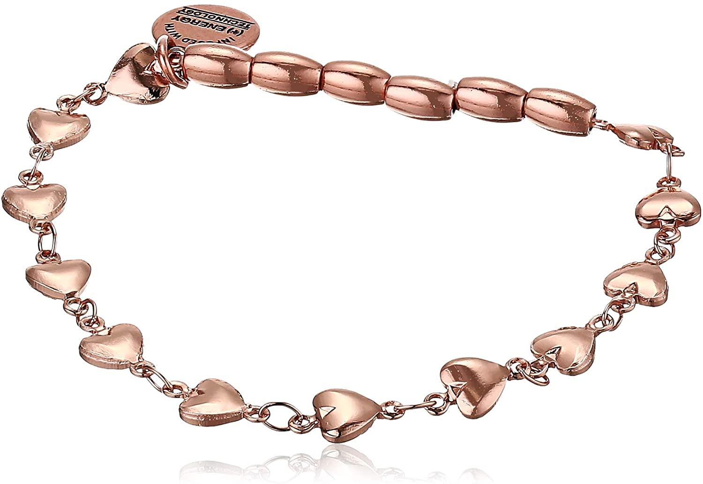 Alex and Ani Heart Beaded Stretch Bracelet