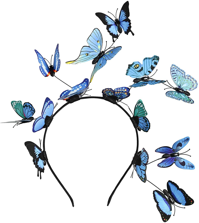 Butterfly Fascinator Hat Monarch Derby Headband Festival Crown Halloween Costume Bohemian Wedding Headpiece