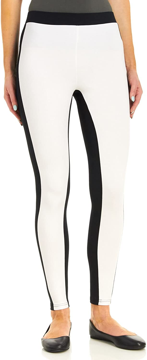 HUE Women's Colorblock Illusion Leggings