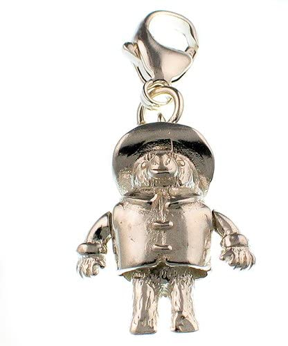 Welded Bliss Sterling 925 Silver Charm, Classic Paddington Bear Figure With Duffle Coat And Hat, Clip Fit WBC1160