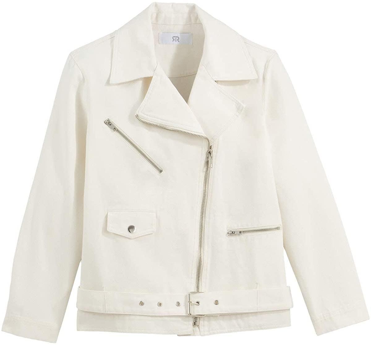 La Redoute Collection Womens Cotton Biker Jacket