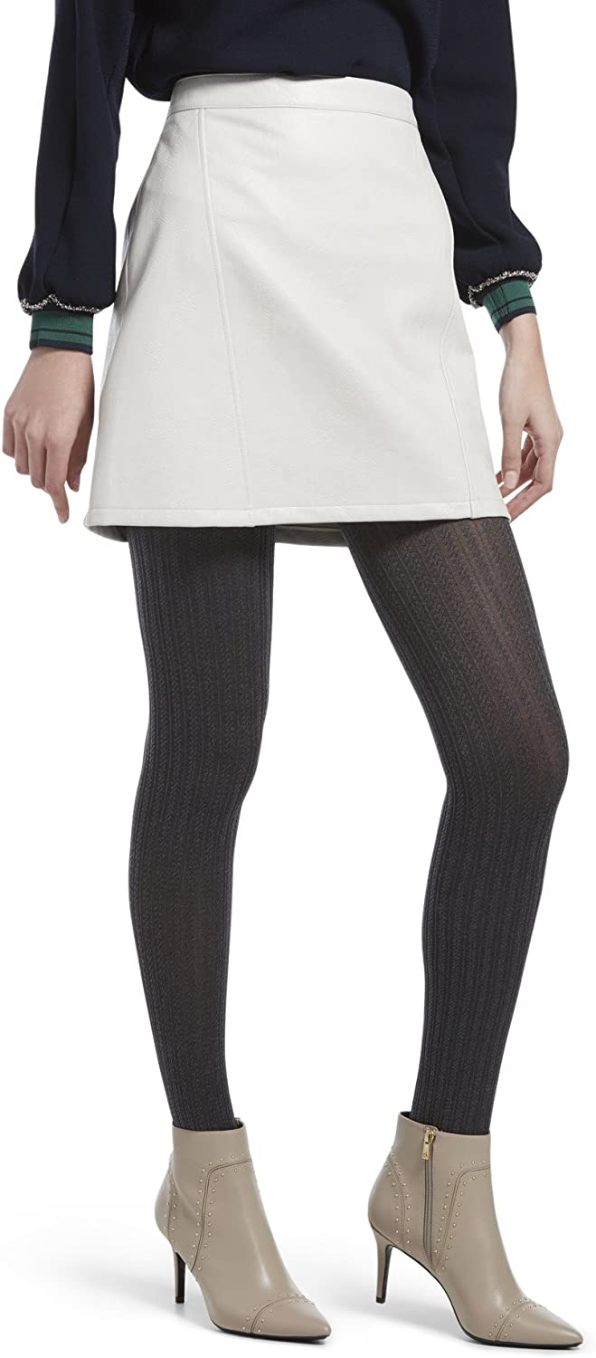 HUE Women's Micro Cable Tights with Control Top