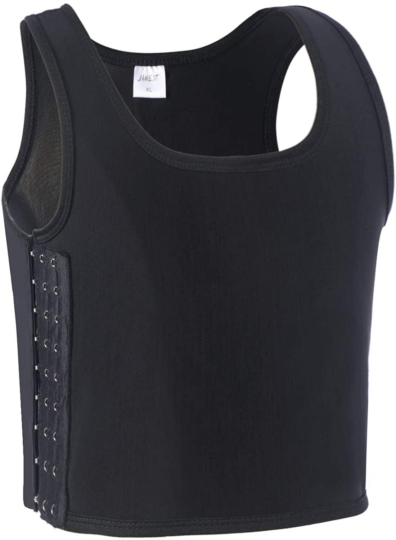 JARAZIN Women Tomboy Lesbian Breathable Silky Mesh Ultrathin Chest Binder Tank Top Vest