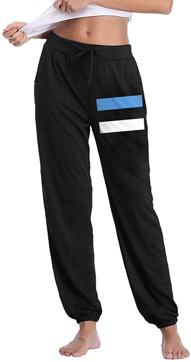 Women's Casual Sweatpants Flag of Estonia Fitness Training Jogger Pants