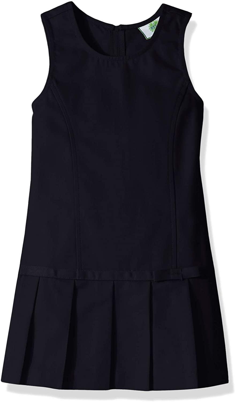 Classroom School Uniforms Girls' Big Pleated Bow Jumper, Navy Blue, 16h
